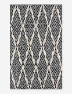"Erin Gates River Beacon Indoor/Outdoor Rug Black 5' x 7'6"" - Lulu and Georgia"