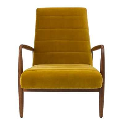 """Willow Channel Tufted 22"""" Armchair Upholstery Color: Gold - Perigold"""