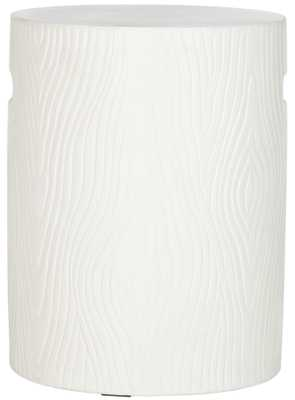 Trunk Indoor/Outdoor Modern Concrete Round 16.5-Inch H Accent Table - Ivory - Arlo Home - Arlo Home