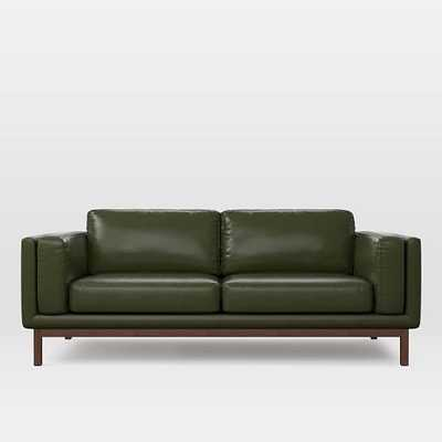 "OPEN BOX: Dekalb 85"" Sofa, Heritage Leather, Verdant - West Elm"