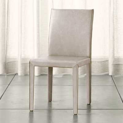 Folio Sand Top-Grain Leather Dining Chair - Crate and Barrel