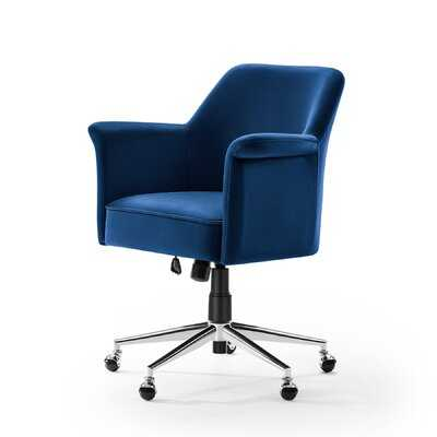 Contemporary Adjustable Seat Hight Velvet Task Chair - Wayfair