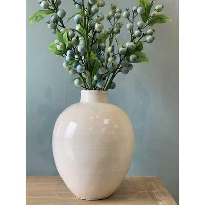 "Louque White 10"" Indoor / Outdoor Porcelain Table Vase - Wayfair"