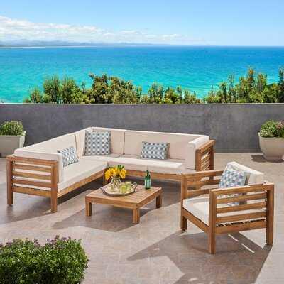 Zaina Outdoor 3 Piece Deep Seating Group with Cushions - Wayfair