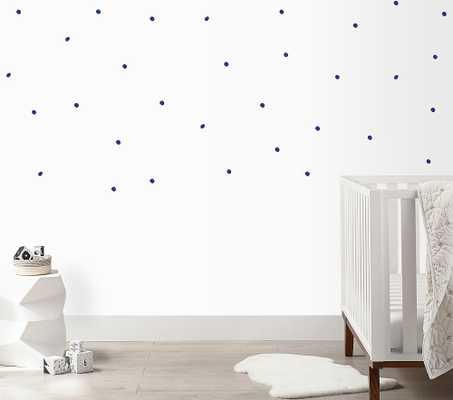 Irregular Dots Wall Decal, Dark Blue - Pottery Barn Kids