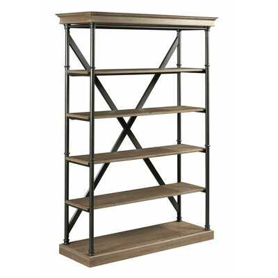 "Bridgman 70"" H x 48"" W Metal Etagere Bookcase - Wayfair"