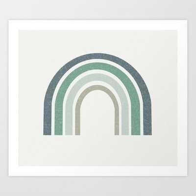 Rainbow - Dusty Blue, Blue, Sage, Art Print by Charlottewinter - SMALL - Society6