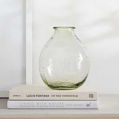 Green Glass Vase, Large - West Elm