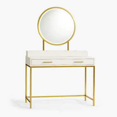 Blaire Classic Desk and Vanity Topper Set, Lacquered Simply White, In-Home - Pottery Barn Teen
