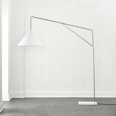 Conan Marble Base Arc Floor Lamp - CB2