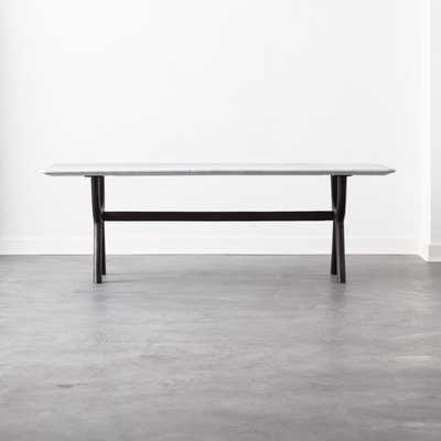 Sierra Cast Metal and Marble Dining Table - CB2