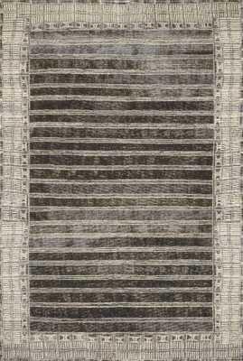"Loloi Mika MIK-07 Charcoal / Ivory 6'-7"" x 9'-4"" - Loma Threads"