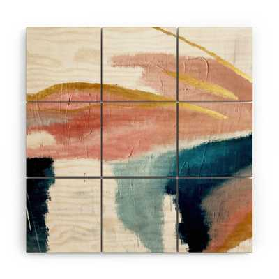 "Exhale by Alyssa Hamilton Art - Wood Wall Mural3' X 3' (Nine 12"" Wood Squares) - Wander Print Co."