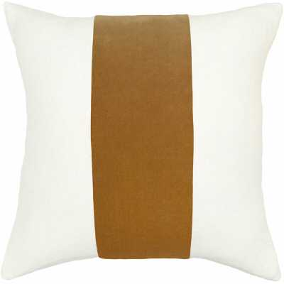 """Square Feathers Ming Feathers Pillow Size: 20"""" x 20, Color: Camel - Perigold"""