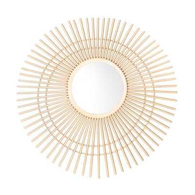 Safavieh Marlit Sunburst 24 in. X 24 in. Gold Framed Mirror - Home Depot