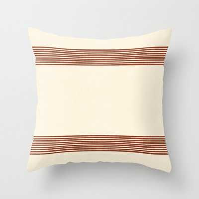 Band In Rust Couch Throw Pillow by Becky Bailey - Cover 20x20 with pillow insert - Indoor Pillow - Society6