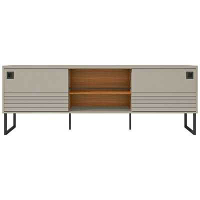 "Loft 70 1/2"" Wide Off-White Wood TV Stand with Sliding Doors - Style # 78K40 - Lamps Plus"
