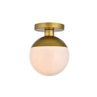 Emil 1-Light Simple Globe Semi Flush Mount - AllModern