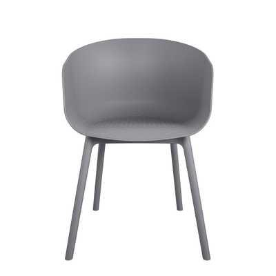 Cosco Novogratz Poolside York Charcoal XL Resin Outdoor Dining Chair (2-Pack) - Home Depot