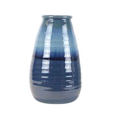 "Claridge Blue 16"" Ceramic Table Vase - Wayfair"
