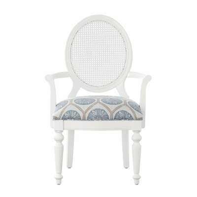 Dukinfield King Louis Back Arm Chair in White - Wayfair