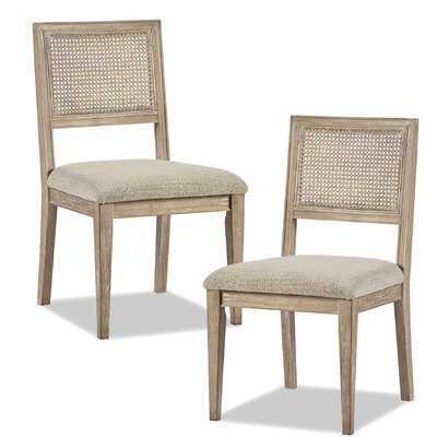 Deleon Side Chair in Light Brown (Set of 2) - Wayfair