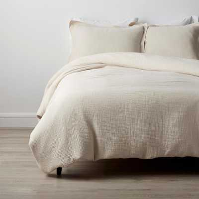 The Company Store Weaver Organic Natural Solid Cotton Full Duvet Cover - Home Depot