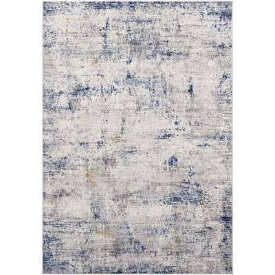 Morella Geometric Navy Area Rug - Wayfair