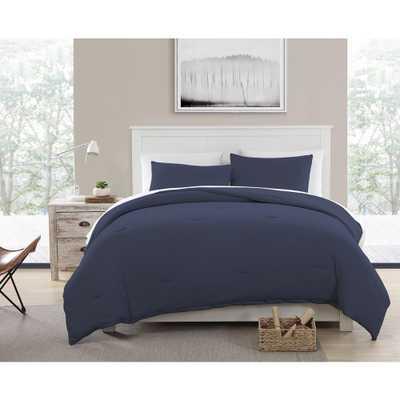 Morgan Home Fashions Recycled Cotton Blend T-shirt Jersey Blue Comforter Set, King - Home Depot