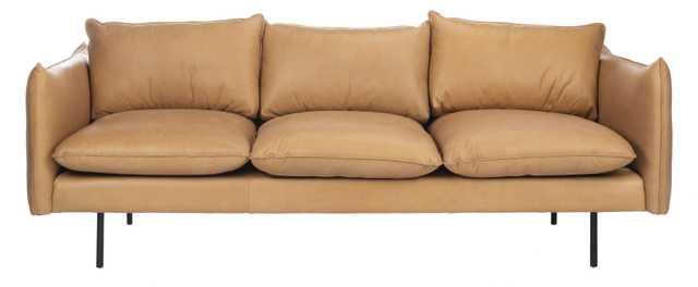 Bubba Italian Leather  Sofa - Tan - Arlo Home - Arlo Home