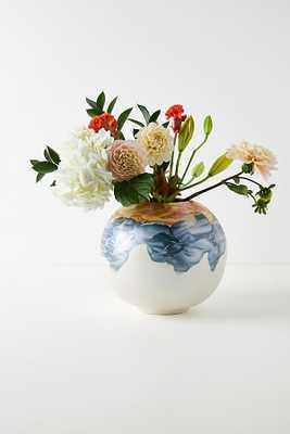 Minetta Marbled Vase By Anthropologie in Purple Size L - Anthropologie