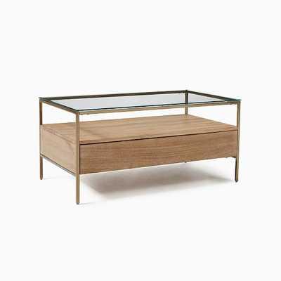 We Cooper (Storage Display) Cerused White/Light Bronze Storage Coffee Table - West Elm