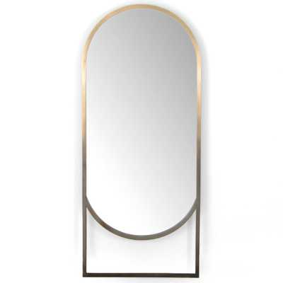 Dawn Modern Gold Ombre Stainless Steel Floor Mirror - Kathy Kuo Home