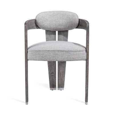Interlude Mary Upholstered Dining Chair Frame Color: Heathered Gray - Perigold
