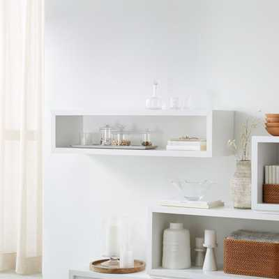 """Aspect White 47.5"""" Floating Cube Shelf - Crate and Barrel"""
