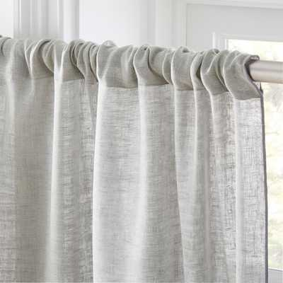 "Dos Dark Grey and Light Grey Two-Tone Curtain Panel 48""x96"" - CB2"
