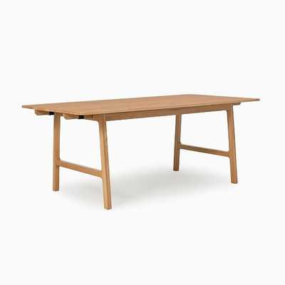 Carlisle Expandable Dining Table Oak 74-106 in - West Elm