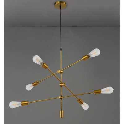 Fairlea 6 - Light Sputnik Modern Linear Chandelier - Wayfair