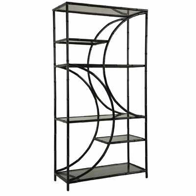 Fairley 76'' H x 39.5'' W Metal Etagere Bookcase - Wayfair