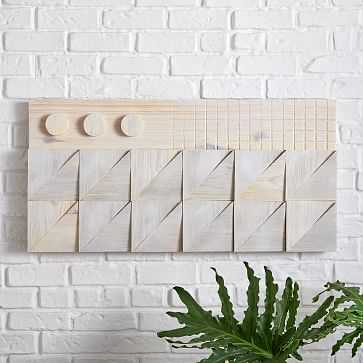 Carved Wood Wall Art, Panel 1, Natural, Wood, Large - West Elm