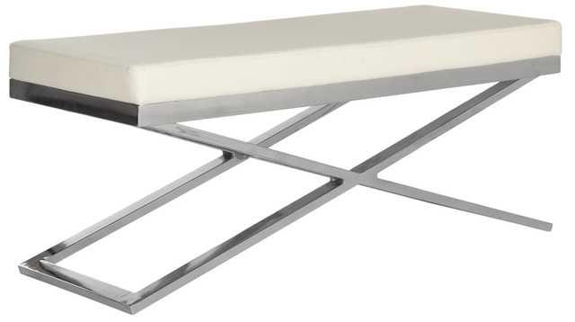 Acra Bench - White/Silver/Chrome - Arlo Home - Arlo Home