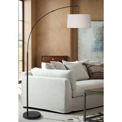 Cora Black Arc Floor Lamp - Style # 89E69 - Lamps Plus