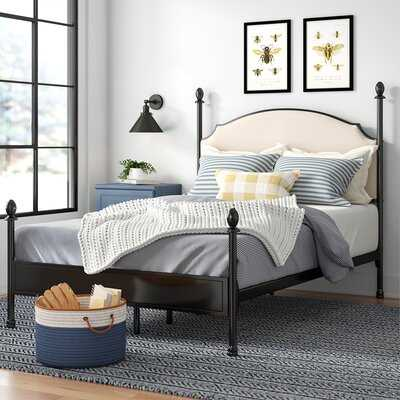Granite Range Upholstered Four Poster Bed - Wayfair