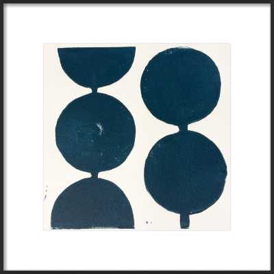 Modern Circles in Midnight Blue by Stacy Rajab for Artfully Walls - Artfully Walls