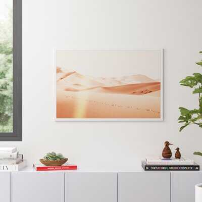 Modern Desert Peach by Oliver Gal - Picture Frame Graphic Art Print on Canvas - AllModern