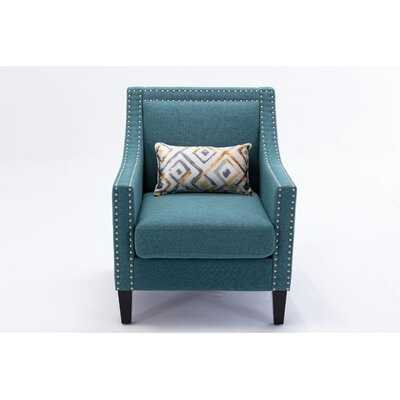 "Berneita 26.8"" W Linen Club Chair - Wayfair"