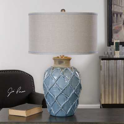 Parterre Pale Blue Table Lamp - Hudsonhill Foundry