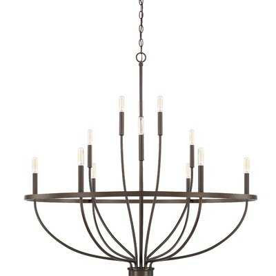 Elkton 12 - Light Unique Wagon Wheel Chandelier - Wayfair