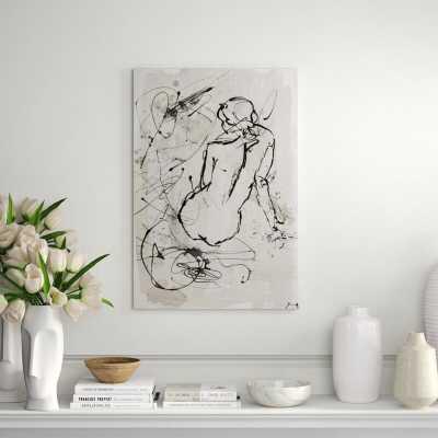 "Chelsea Art Studio 'Contour Figure I' by Altamura Stefano Print Format: Knife Gel, Size: 44"" H x 30"" W - Perigold"