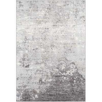 Heimskringla Power Loom Gray/White/Charcoal Rug - Wayfair